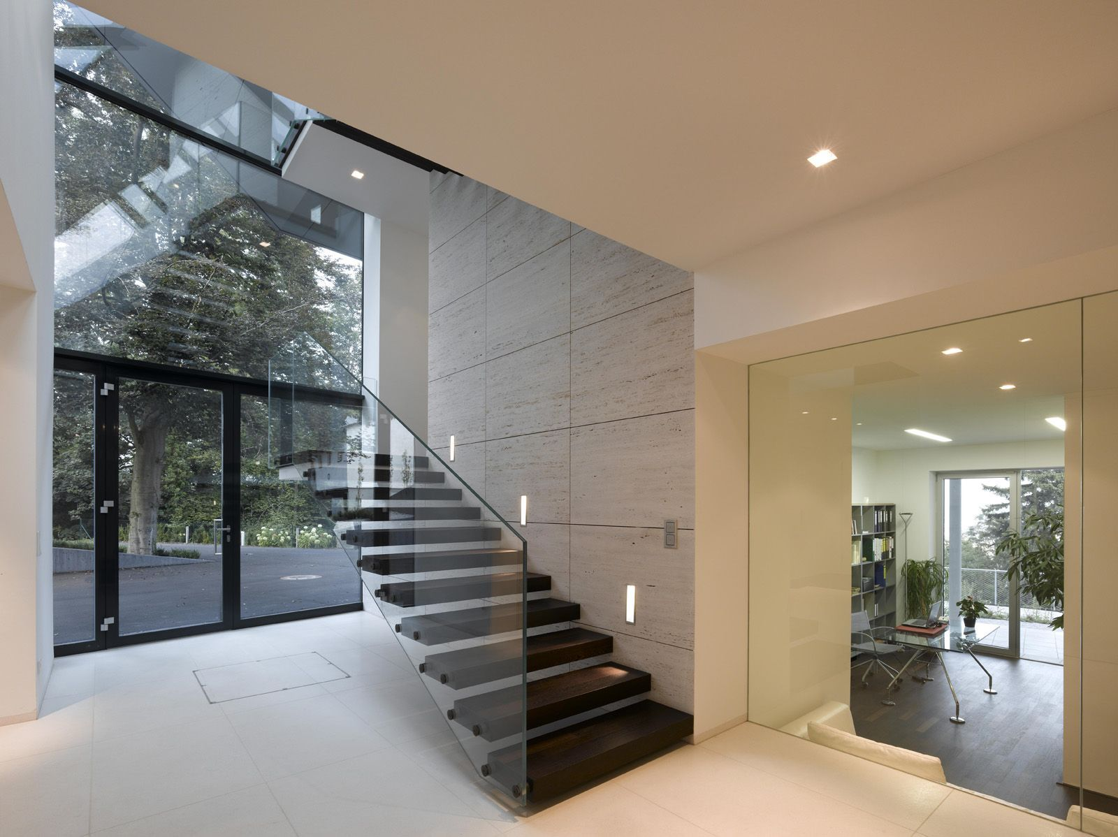 Modern contemporary villa a interior space photo sphera